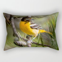 Oriole and Pine cone Rectangular Pillow