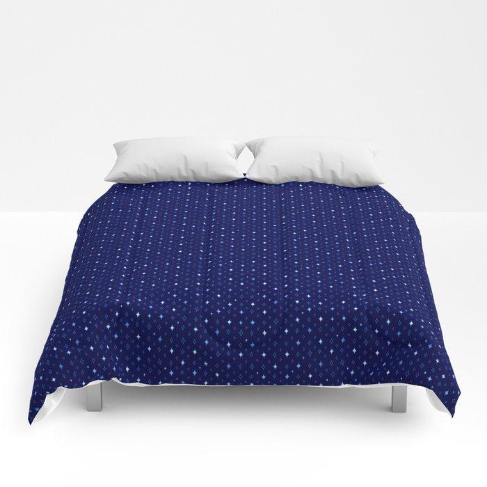Sparkle Pattern (Blue) Comforters