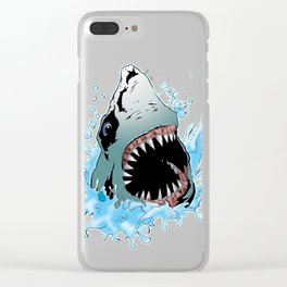 White Shark Attacks Clear iPhone Case