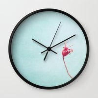 welcome Wall Clocks featuring welcome by Claudia Drossert