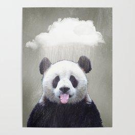 Panda Rain Poster