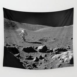 Apollo 17 - Astronaut Running Wall Tapestry