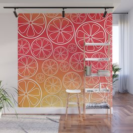 Citrus slices (red/orange) Wall Mural