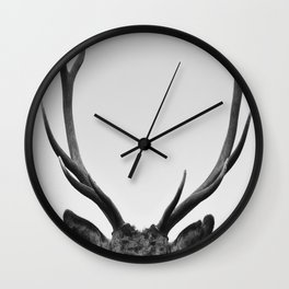 Stag antlers Wall Clock