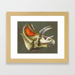 Triceratops Bust Framed Art Print