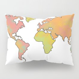 Contour Map of the World Pillow Sham