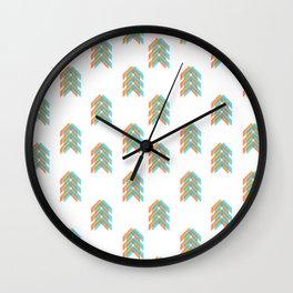 Primary Colour Chevron Arrows Wall Clock