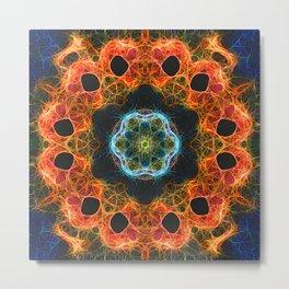 Fiery barnacle kaleidoscope Metal Print