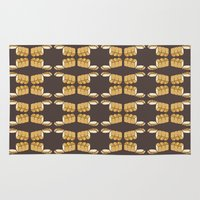 bread Area & Throw Rugs featuring bread by Jaeyun Woo