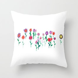 Flower Gathering Throw Pillow