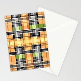 Grey-yellow  beautiful  plaid Stationery Cards