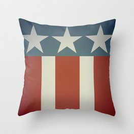 Three Starred Spangle Banner Throw Pillow