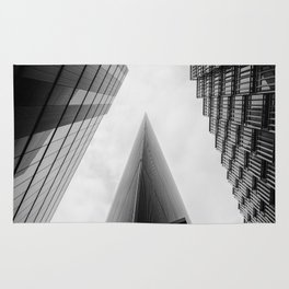 Modern Buildings London Finance Abstract Rug