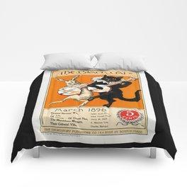 Black Cat for Halloween with Vampire Bunny Comforters