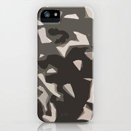 Black & White Camouflage or Something iPhone Case
