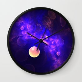 Purple Universe Wall Clock