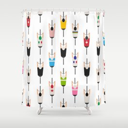 Bicycle squad Shower Curtain