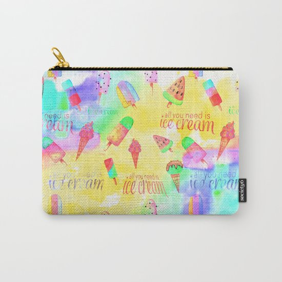 ALL YOU NEED IS ICECREAM - seamless summerpattern Carry-All Pouch