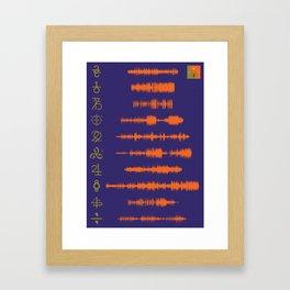22, A Million (33) Framed Art Print