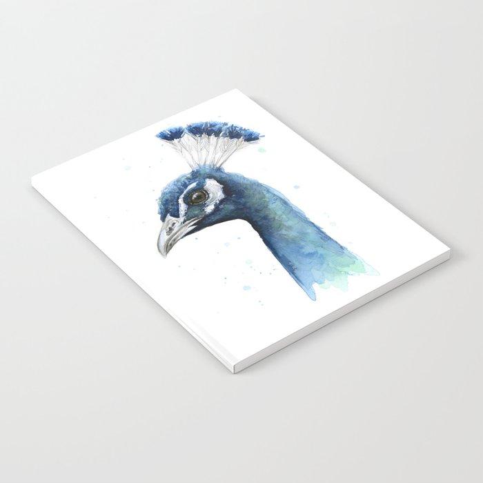 Peacock Watercolor Exotic Bird Animals Notebook