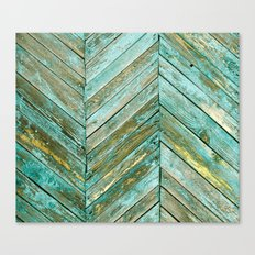 Vintage Blue Wood Canvas Print