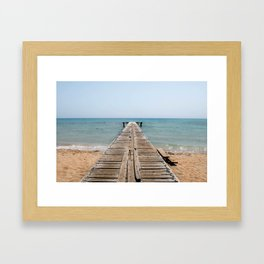BEACH DAYS 44 - Bridge Framed Art Print