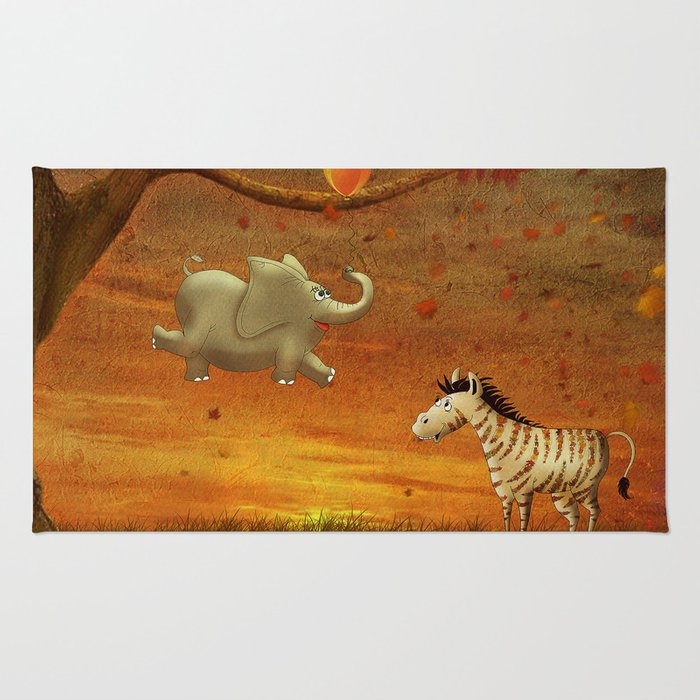 Animals in the Forest Rug