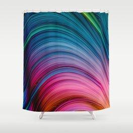 Dream Fiber. Abstract Strands Shower Curtain