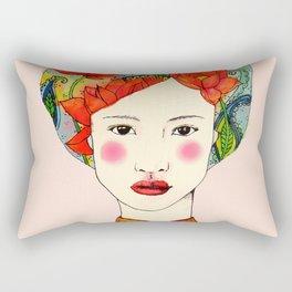 lotus girl Rectangular Pillow