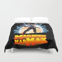 mad max Duvet Covers featuring Mighty Mad Max by ADobson