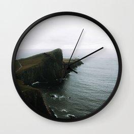 Neist Point Lighthouse II - Landscape Photography Wall Clock