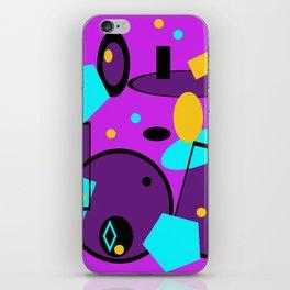 Retro abstract print purple violet iPhone Skin