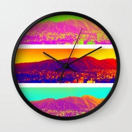 Caracas de colores Wall Clock