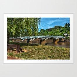 A Riverside Seat At Chepstow Art Print