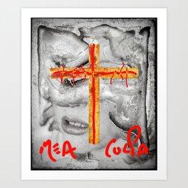 MEA CULPA Art Print
