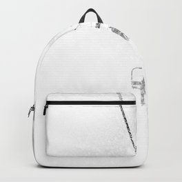 Snow Blasted // Black and White Ride on the Skilift in Blizzard Wind Backpack
