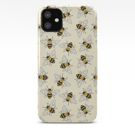 Busy Bees on buttermilk Pattern iPhone Case