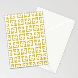 Mid Century Modern Pattern 272 Mustard Yellow Stationery Cards