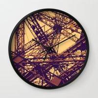 eiffel Wall Clocks featuring Eiffel by adrianperive