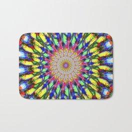 Psychedelic Mandala Colour Burst Bath Mat