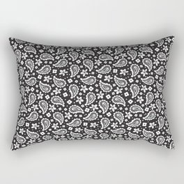 Black and white paisley Rectangular Pillow