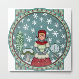 version of peaceful snow 2 Metal Print