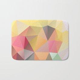 Polygon print bright colors Bath Mat