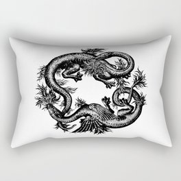 Salamander and Dragon Rectangular Pillow