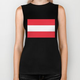 Austrian National flag - authentic version (High quality image) Biker Tank