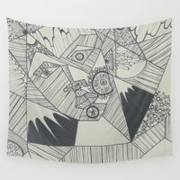 naked Wall Tapestries featuring Naked by Annemiek Boonstra
