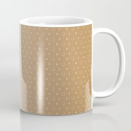 Art Deco, Simple Shapes Pattern 1 [LIGHT GOLD] Coffee Mug