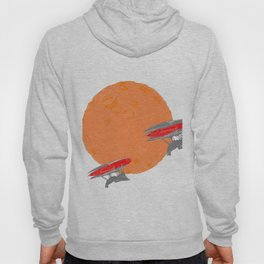 Around the Moon Orange Textured Version 2 Hoody