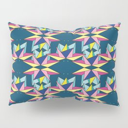Colorful Galaxy Geometric Origami Pillow Sham
