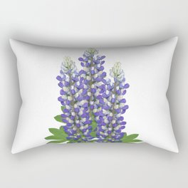 Blue and white lupine flowers Rectangular Pillow
